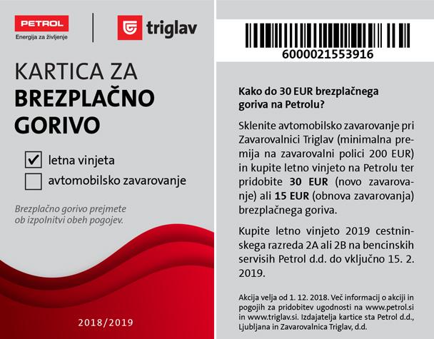 kartica za brezplačno gorivo
